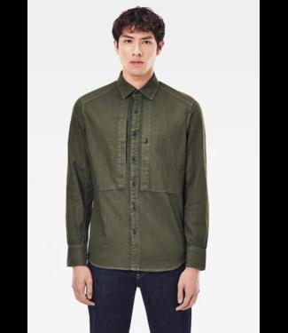 G-Star Panelled pkt slim shirt groen D18963-7647-C249