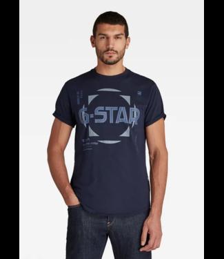G-Star Lash graphic s/s donkerblauw D19269-336-6067