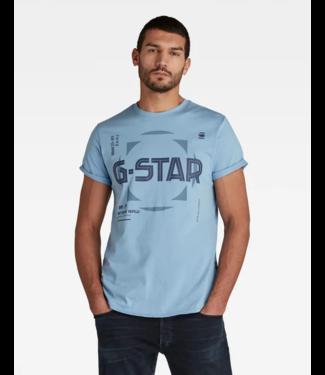 G-Star Lash graphic s/s blauw D19269-336-1852