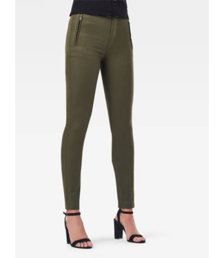 G-Star Weld high slim chino wmn groen D19141-C105-723