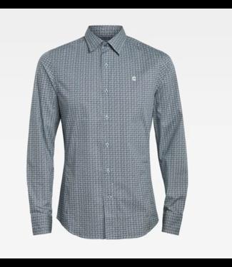 G-Star Dressed super slim shirt l/s blauw D18955-C289-C364
