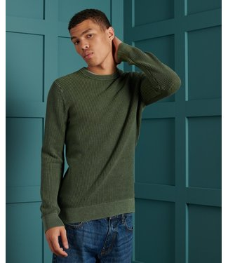 Superdry Academy dyed crew groen M6110219A