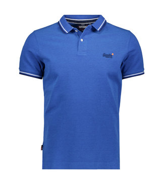 Superdry Calssic poolside pique polo blauw M1110057A