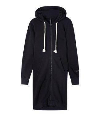 10Days Long hoodie cardigan zwart 20-853-1201