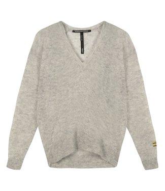 10Days V-neck sweater alpaca grijs 20-600-1201