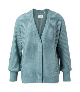 Yaya Rib stitch cardigan blue 1010116-112