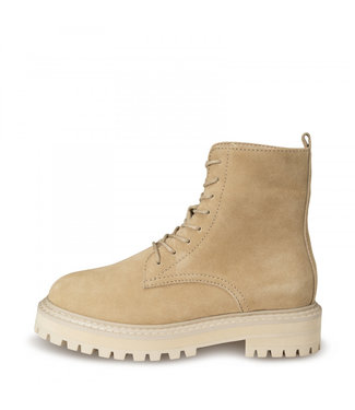 Yaya Suede boot with bulky sole oat 134377-112