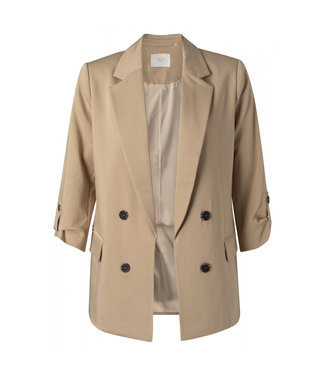 Yaya Faux double breasted blazer nutshell 150174-112