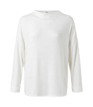 Yaya Brushed boatneck sweater off white 1009404-111
