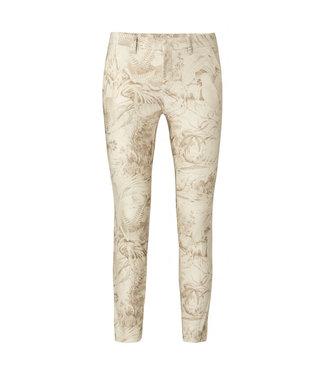 Yaya Printed stretch trousers oat dessin 1201123-112