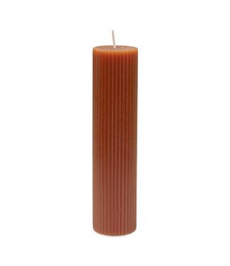 Yaya Large ribbed pillar candle **00 H400012