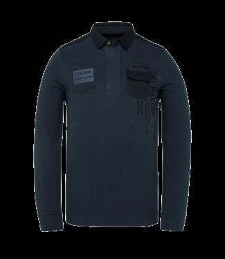 Long sleeve polo rugged pique garm Sky Captain PPS211824