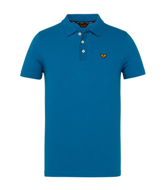 Short sleeve polo stretch pique Imperial Blue PPSS211856