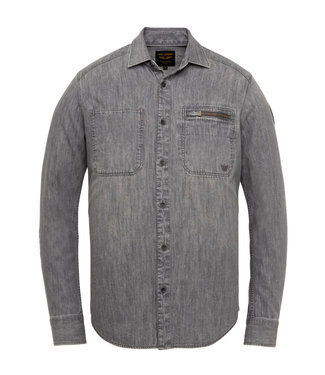 Long Sleeve Shirt Denim shirt Black Indigo PSI211212