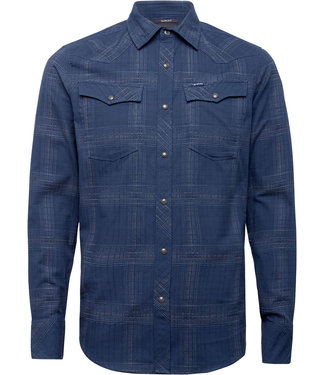 G-Star 3301 slim shirt l/s blauw D18952-C649-C311
