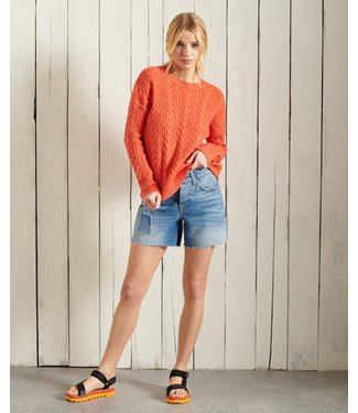 Superdry Dropped shoulder cable oranje W6110166A