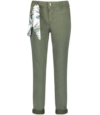 Taifun CROP LEISURE TROUSER:CHINOTS BOTANICAL GREEN 720031-11083