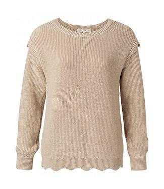 Yaya Scallop edges sweater sand 1000415-112