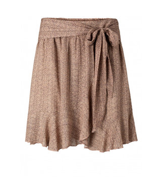 Yaya Wrapped mini skirt pale peach dessin 1401132-113