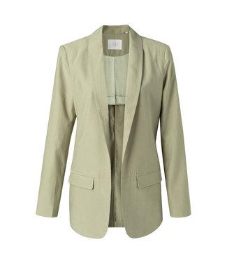Yaya Blazer with strap at back soft sage 150150-113