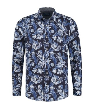 Amsterdenim Carolus shirt blauw AM2101-430