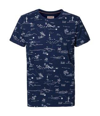 Petrol Industries T-shirt ss r-neck blauw M-1010-TSR630