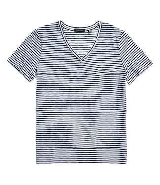 Superdry Pocket V-neck tee donkerblauw W1010521A