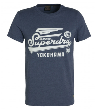 Superdry Military graphic tee blauw M1010850A