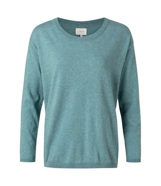 Yaya Sweater with buttons on back rainy sky 1000217-112