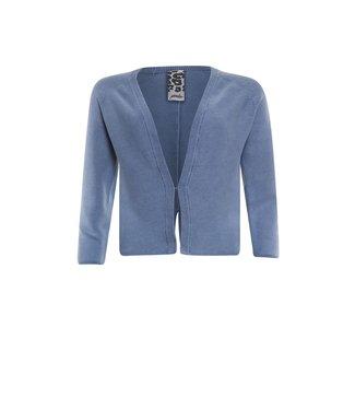 Poools Vest gewassen blauw 113146