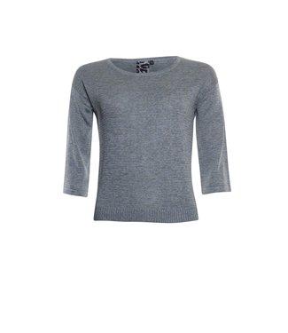 Poools Sweater shiny grijs 113169