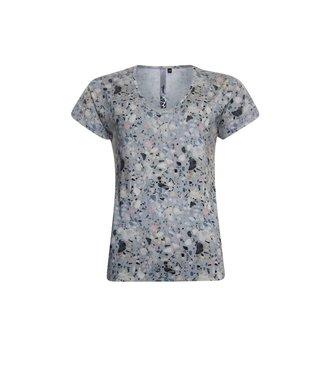 Poools T-shirt print grijs 113226