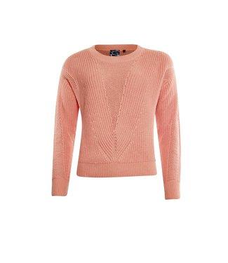 Poools Sweater structure oranje 113241