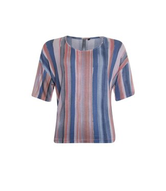Poools T-shirt stripe multicolour 113245
