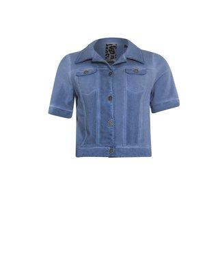 Poools Jacket short sleeve blauw 113221