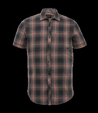 Short Sleeve Shirt Twill Check Meteorite PSIS212257