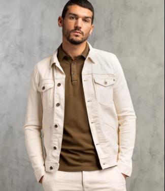 Denim Jacket ecru trucker jacket White Denim CDJ211101