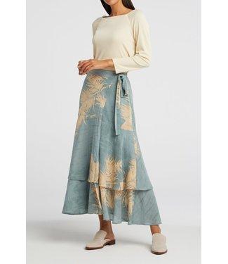 Yaya Printed wrap midi skirt **01 1401136-113