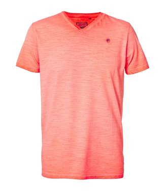 Petrol Industries T-shirt ss v-neck oranje M-1010-TSV604