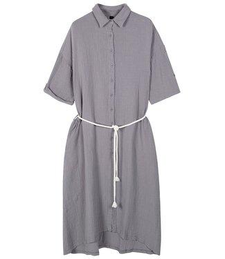 10Days Dress crinkle grijs 20-337-1201