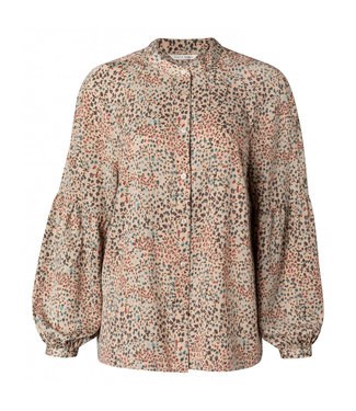 Yaya Printed puff sleeve blouse **00 1101215-112