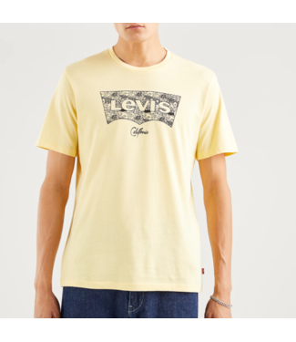 Levi's Housemark graphic tee geel 22489-0321