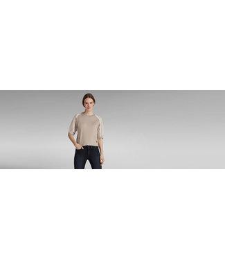G-Star Mesh insert sweater s/s off white d19802-C803-159