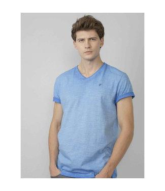 Petrol Industries T-shirt ss v-neck blauw M-1010-TSV604