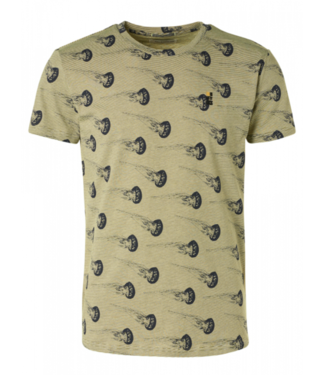 No Excess T-Shirt Crewneck Allover Printed Sl **01 11320318