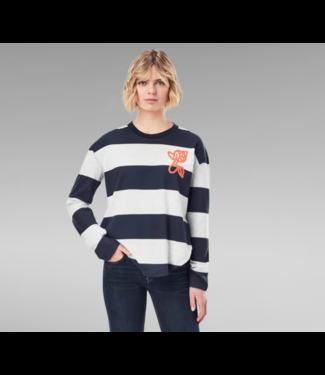 G-Star Striped tweater blauw D19253-C718-C390