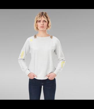 G-Star Sleeve print tweater off white D19251-C755-971