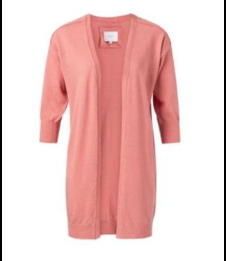Yaya Linen blend loose fit cardigan ROUGE 101082-014