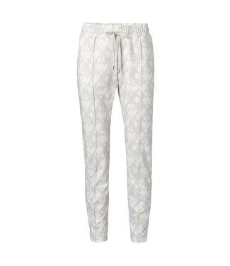 Yaya Jogger pants with floral print DARK SAND 1209183-014