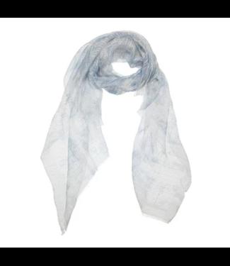 Yaya Scarf with dip dye print MISTY BLUE 130185-014